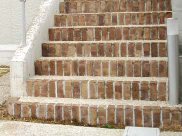 自然な風合いの階段の写真