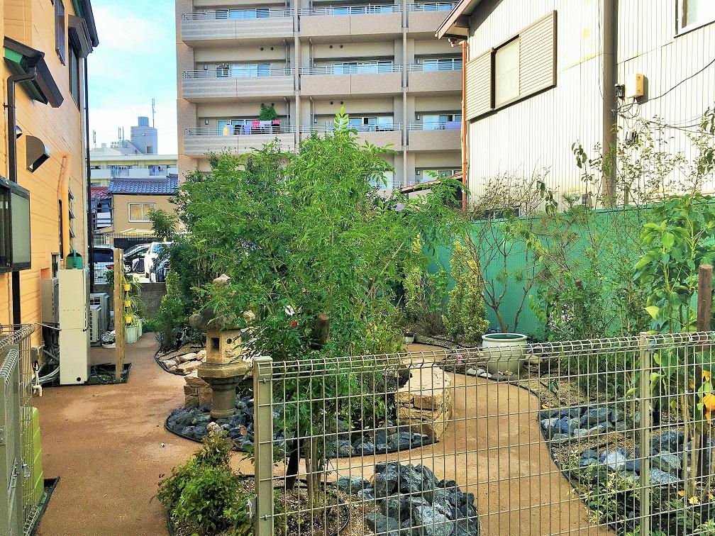 散策を楽しむ庭(北側)の写真
