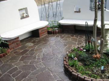 石貼りの床の写真