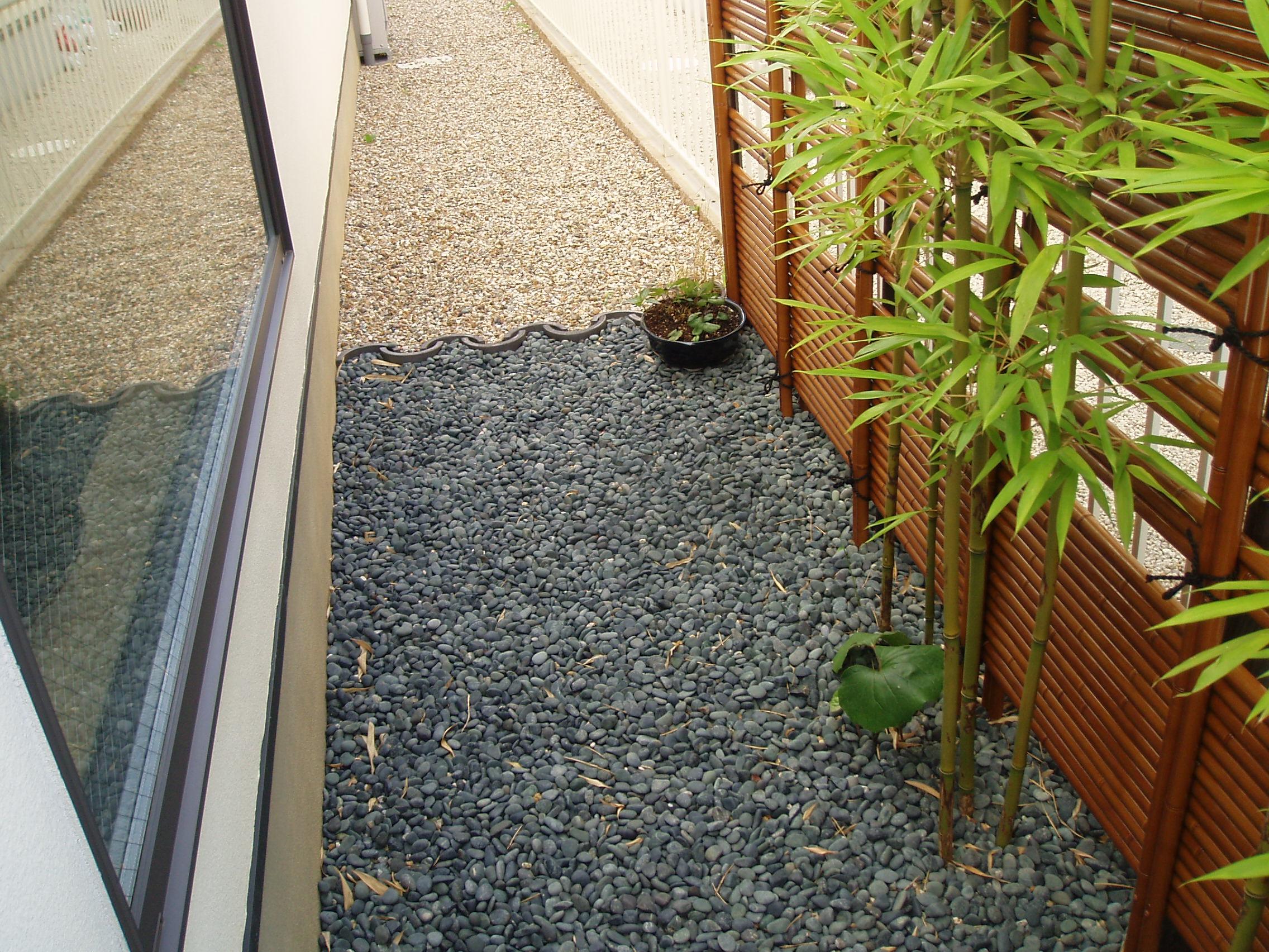 竹垣と竹の写真
